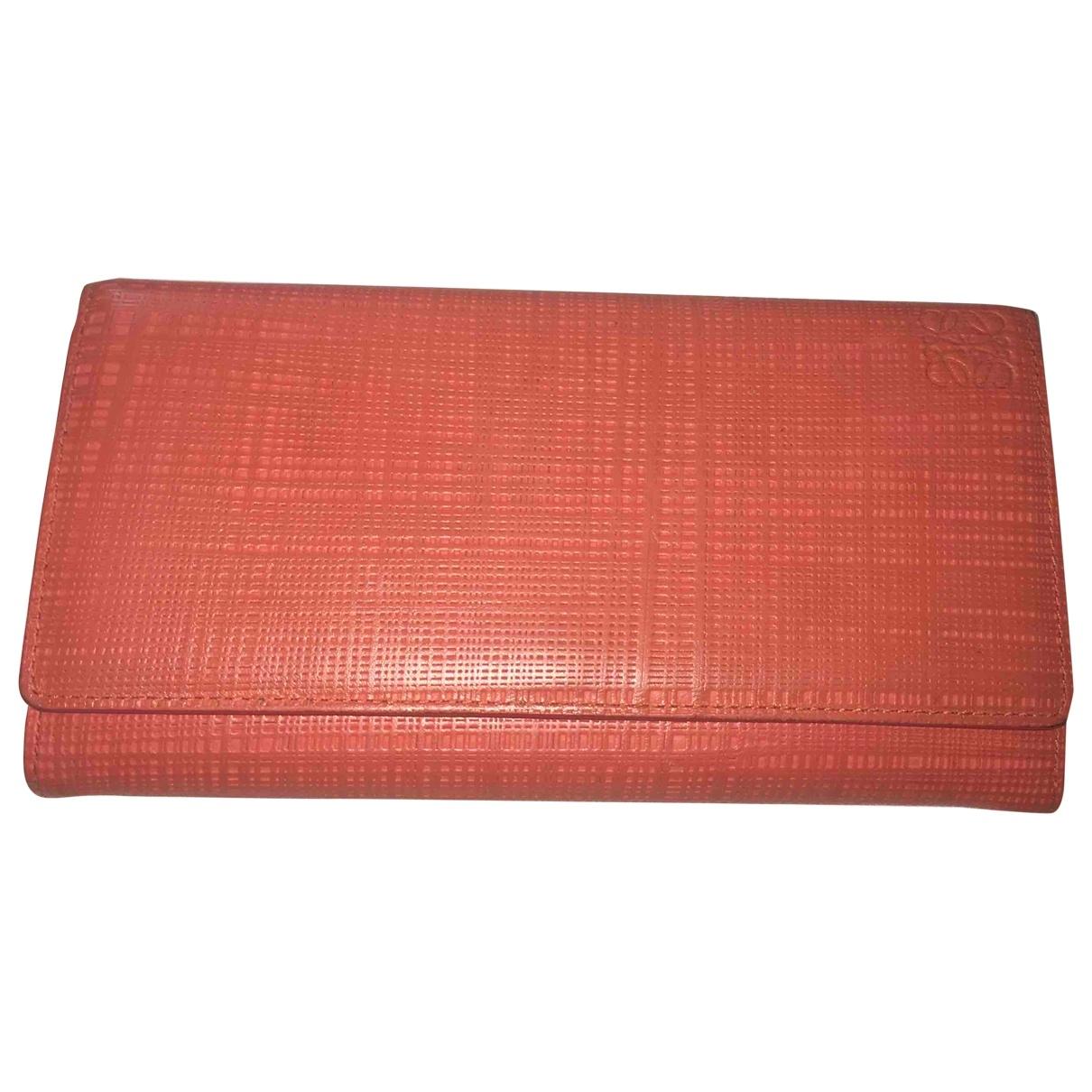 Loewe - Portefeuille   pour femme en cuir - orange