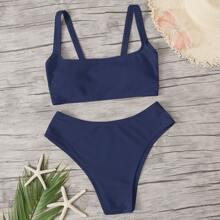 Bikini-Badeanzug mit quadratischem Hals