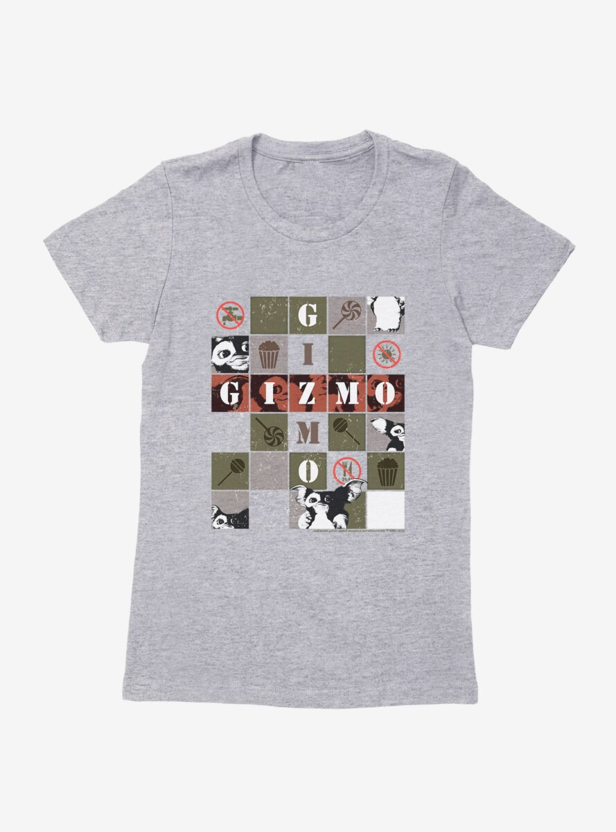 Gremlins Gizmo Boxed Collage Womens T-Shirt