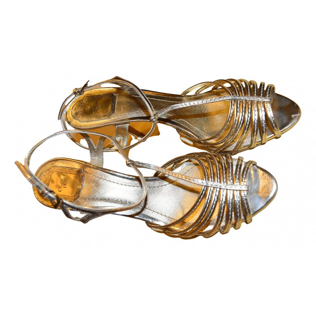 Christian Dior \N Sandalen in  Gold Leder