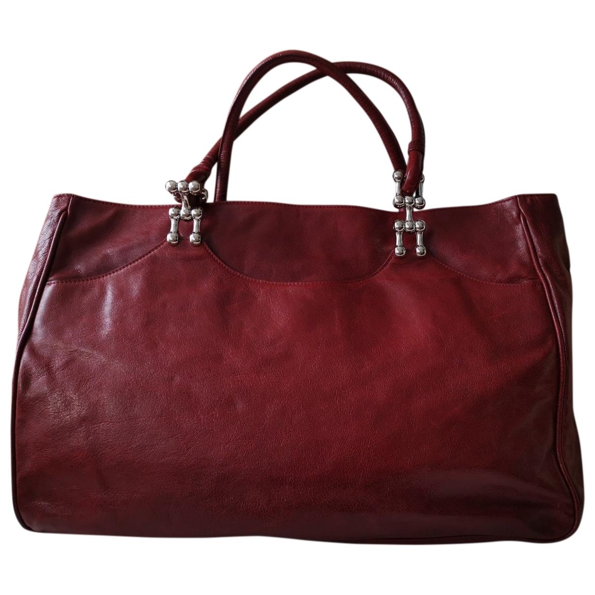Balenciaga \N Burgundy Leather handbag for Women \N