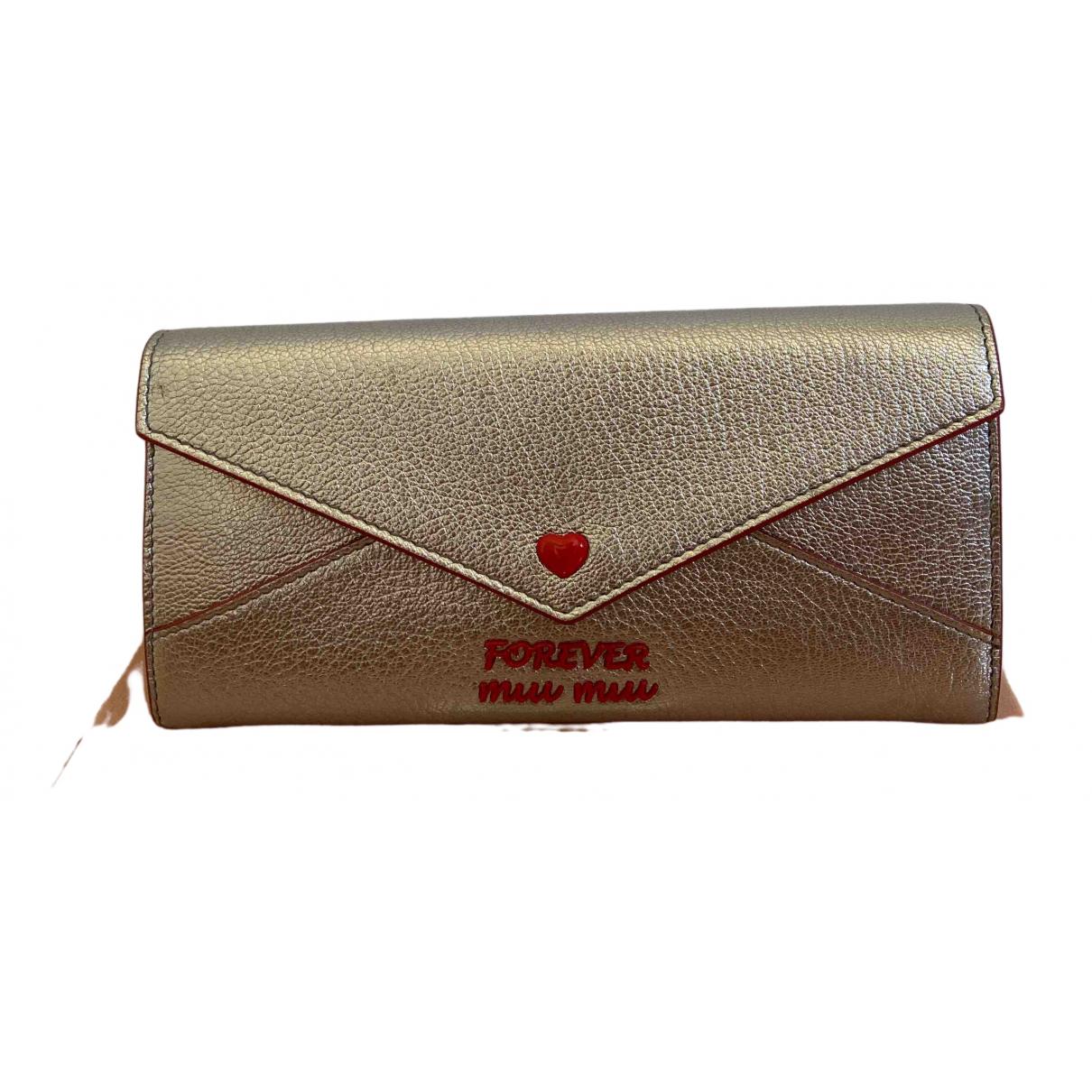 Miu Miu \N Silver Leather wallet for Women \N