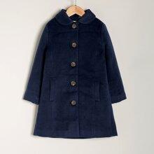 Einreihiger Mantel mit Taschen Detail