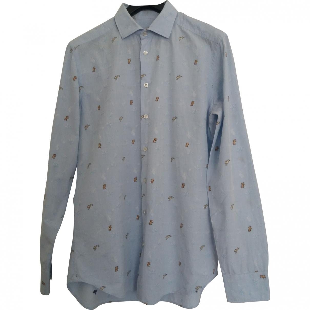 Etro - Chemises   pour homme en coton - bleu