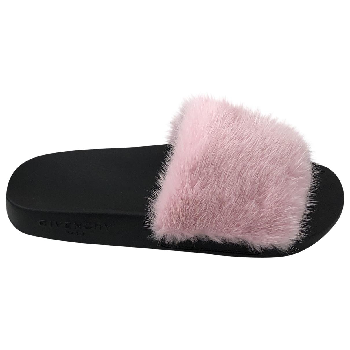 Givenchy - Sandales   pour femme en fourrure synthetique - rose