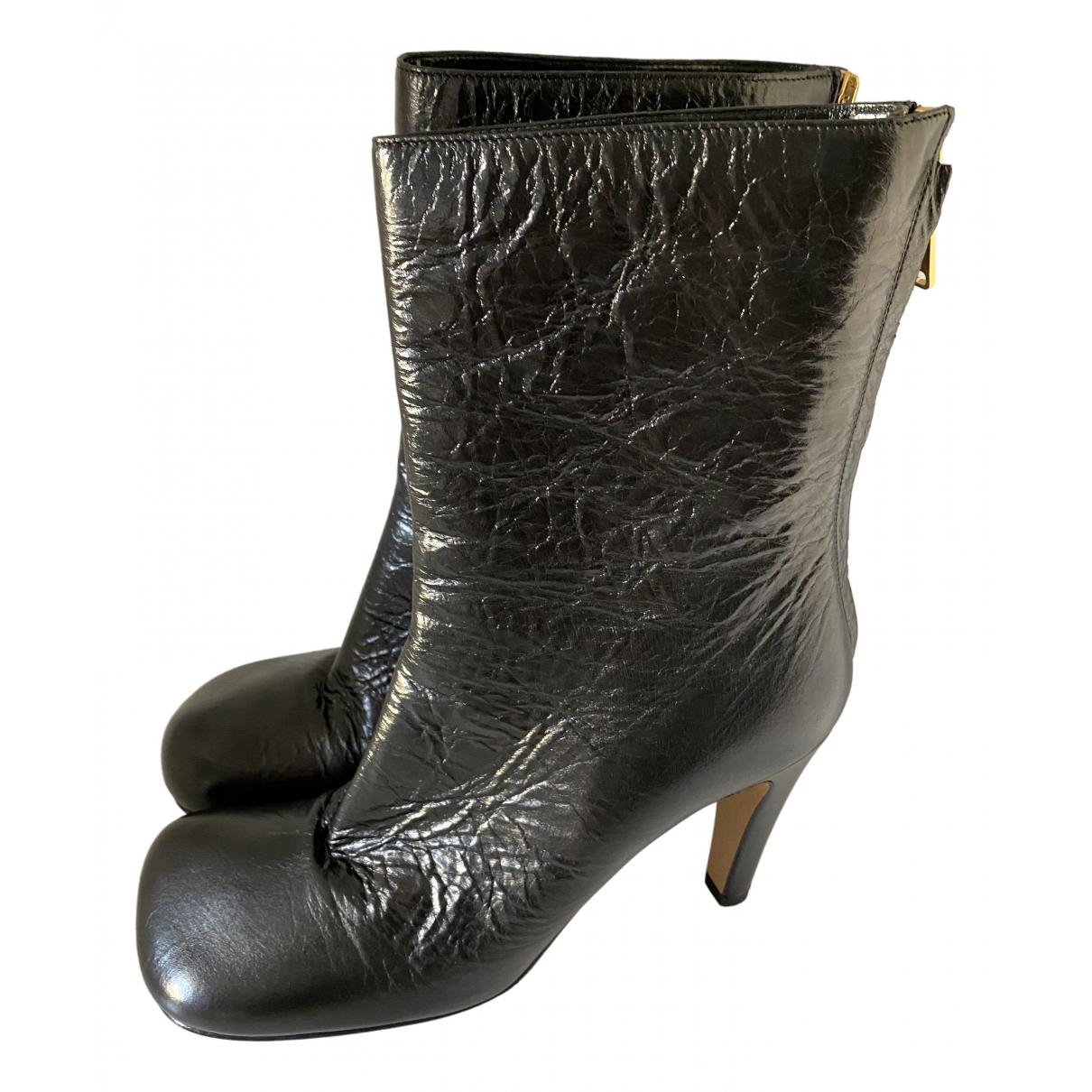 Bottega Veneta \N Stiefel in  Schwarz Leder