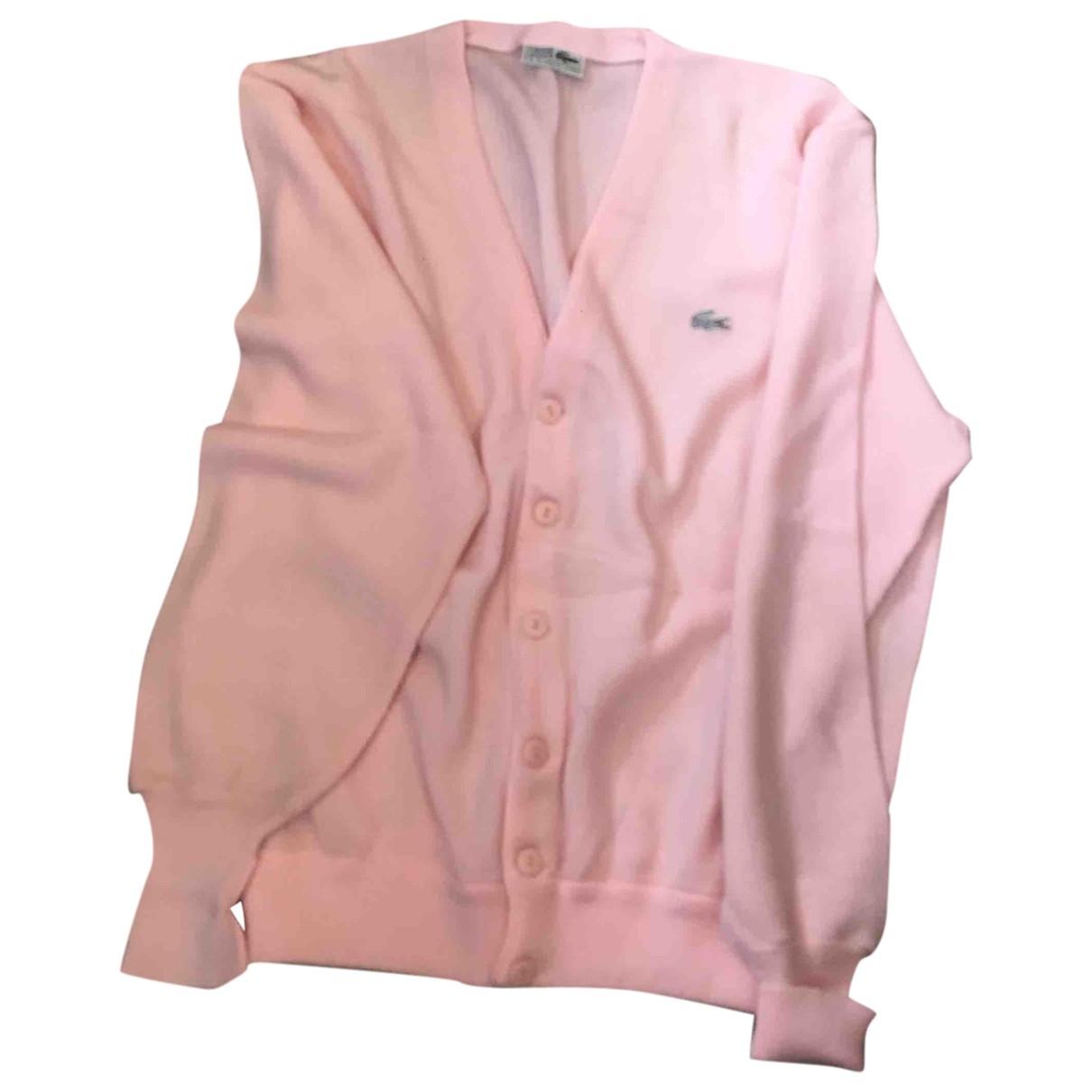 Lacoste \N Pullover.Westen.Sweatshirts  in  Rosa Synthetik