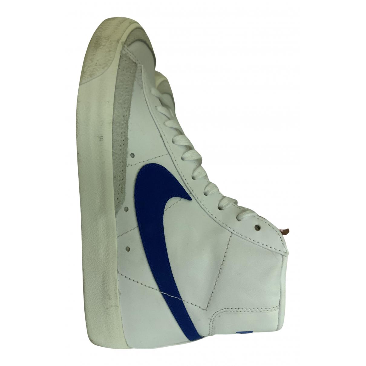 Nike - Baskets Blazer pour femme en cuir - bleu