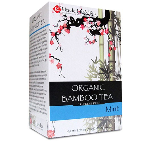 Organic Bamboo Tea Mint 18 Bags by Uncle Lees Teas