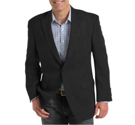 Mens Single Breasted 2 Button Notch Lapel Blazer