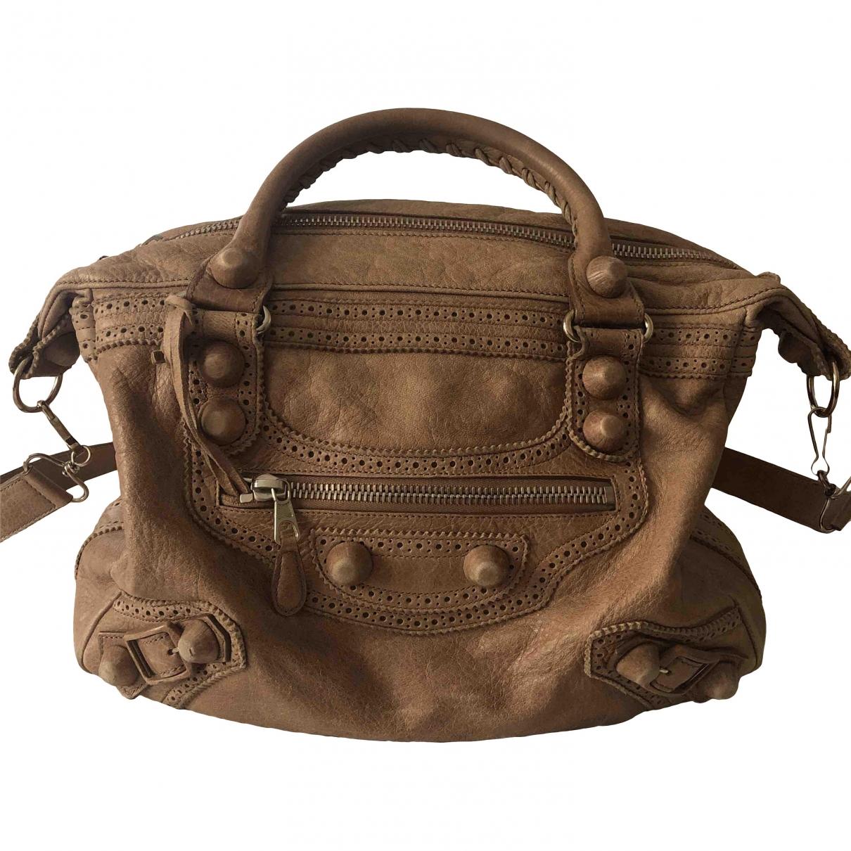 Balenciaga \N Beige Leather handbag for Women \N