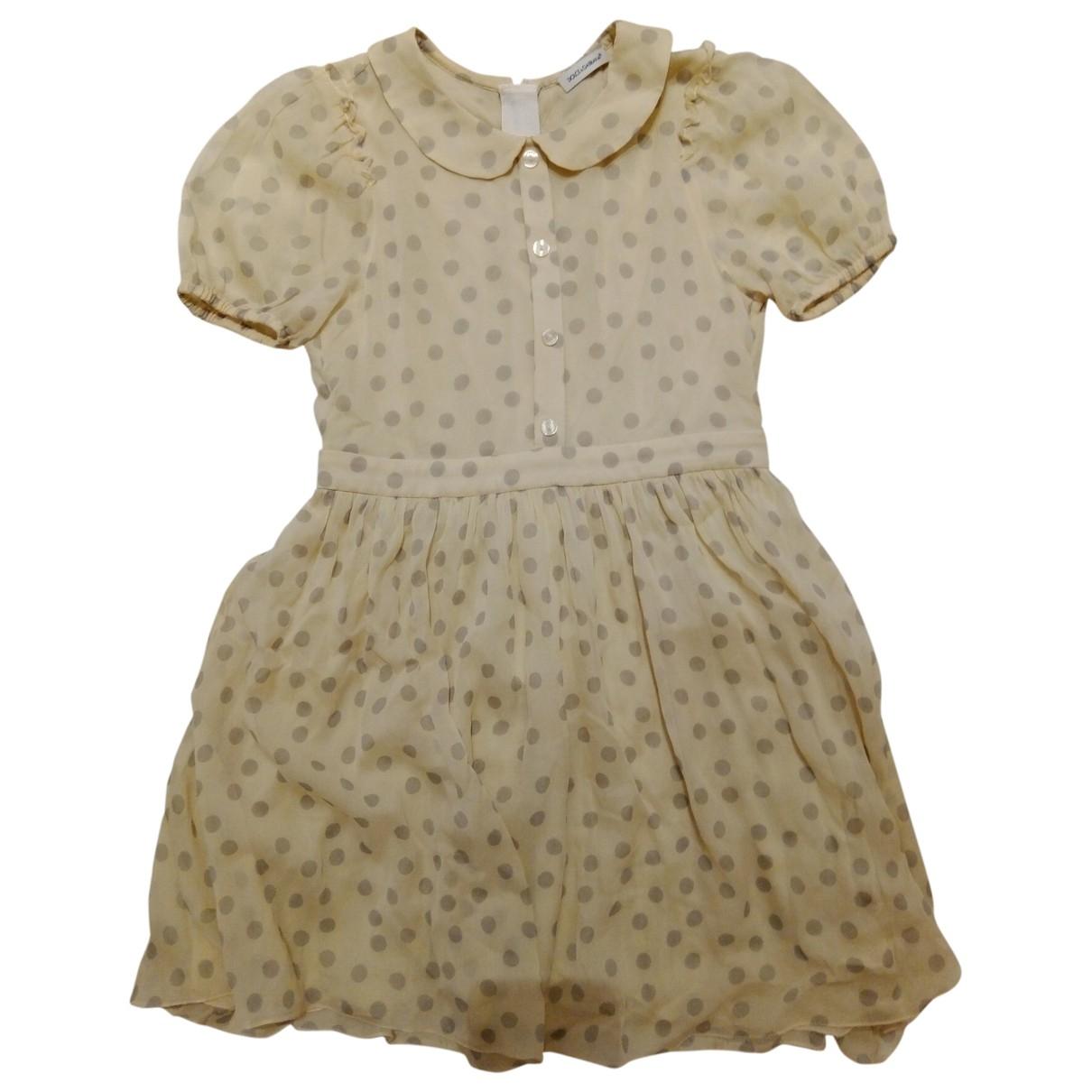 Dolce & Gabbana - Robe    pour enfant en soie - beige