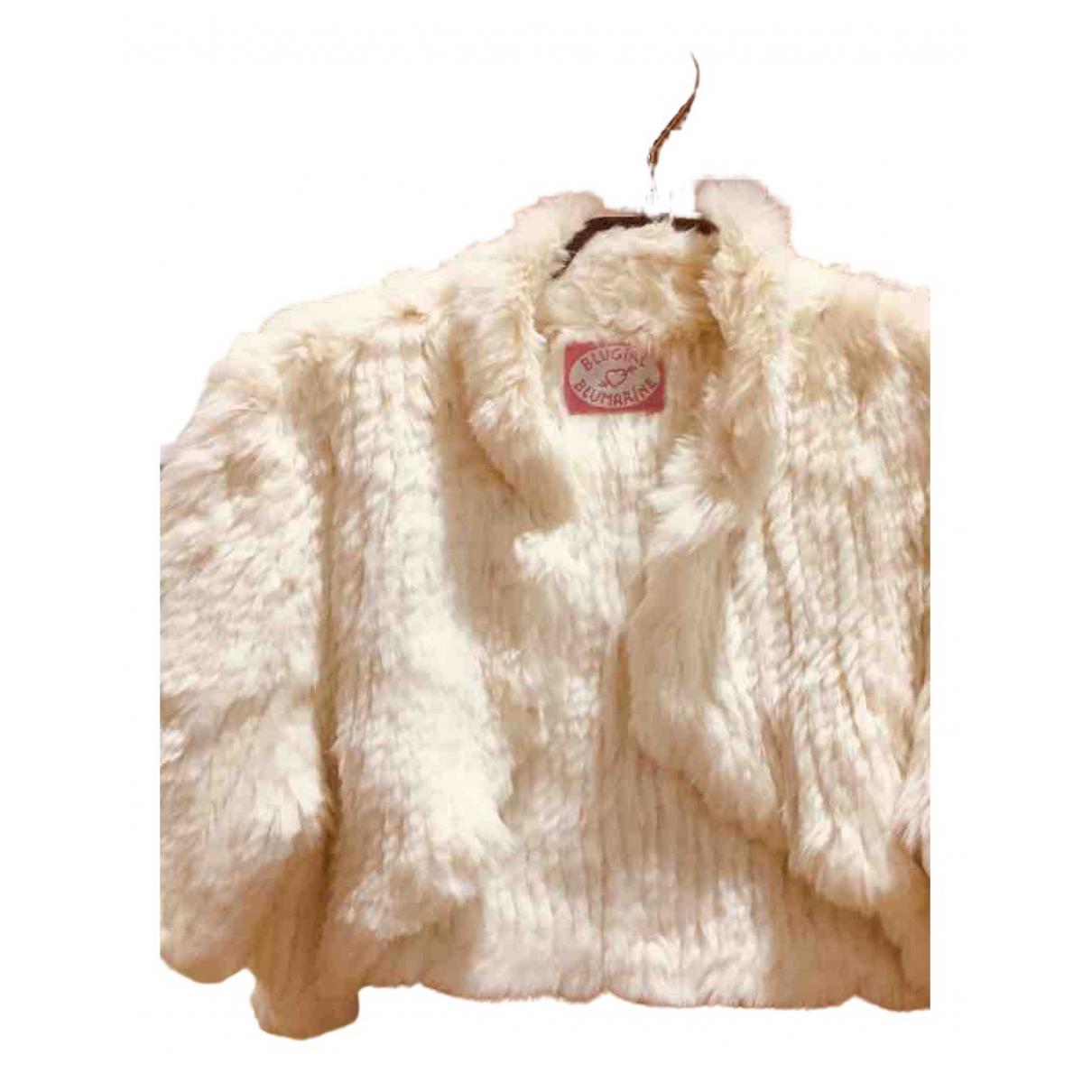 Blumarine - Veste   pour femme en lapin - blanc