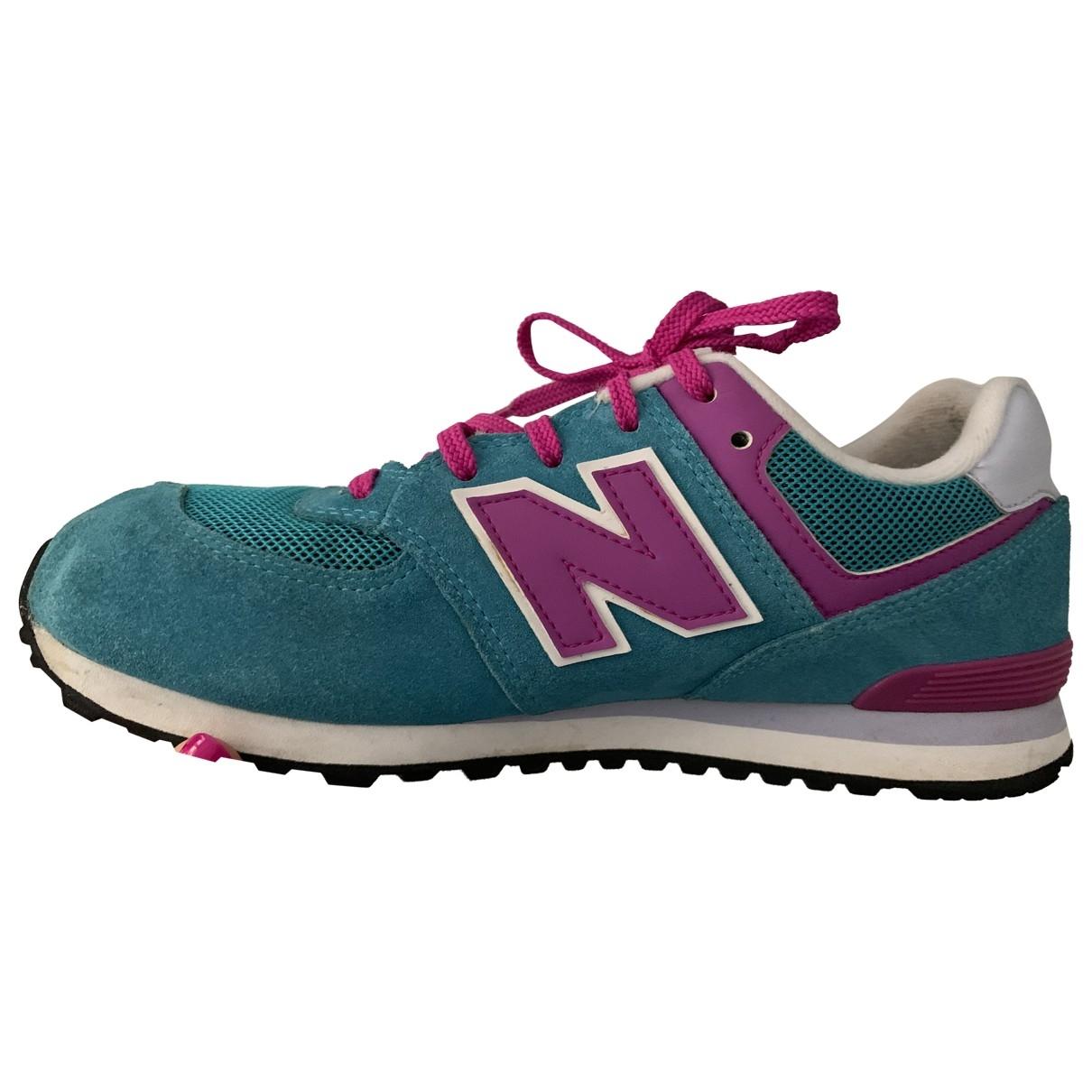 New Balance \N Sneakers in  Tuerkis Veloursleder