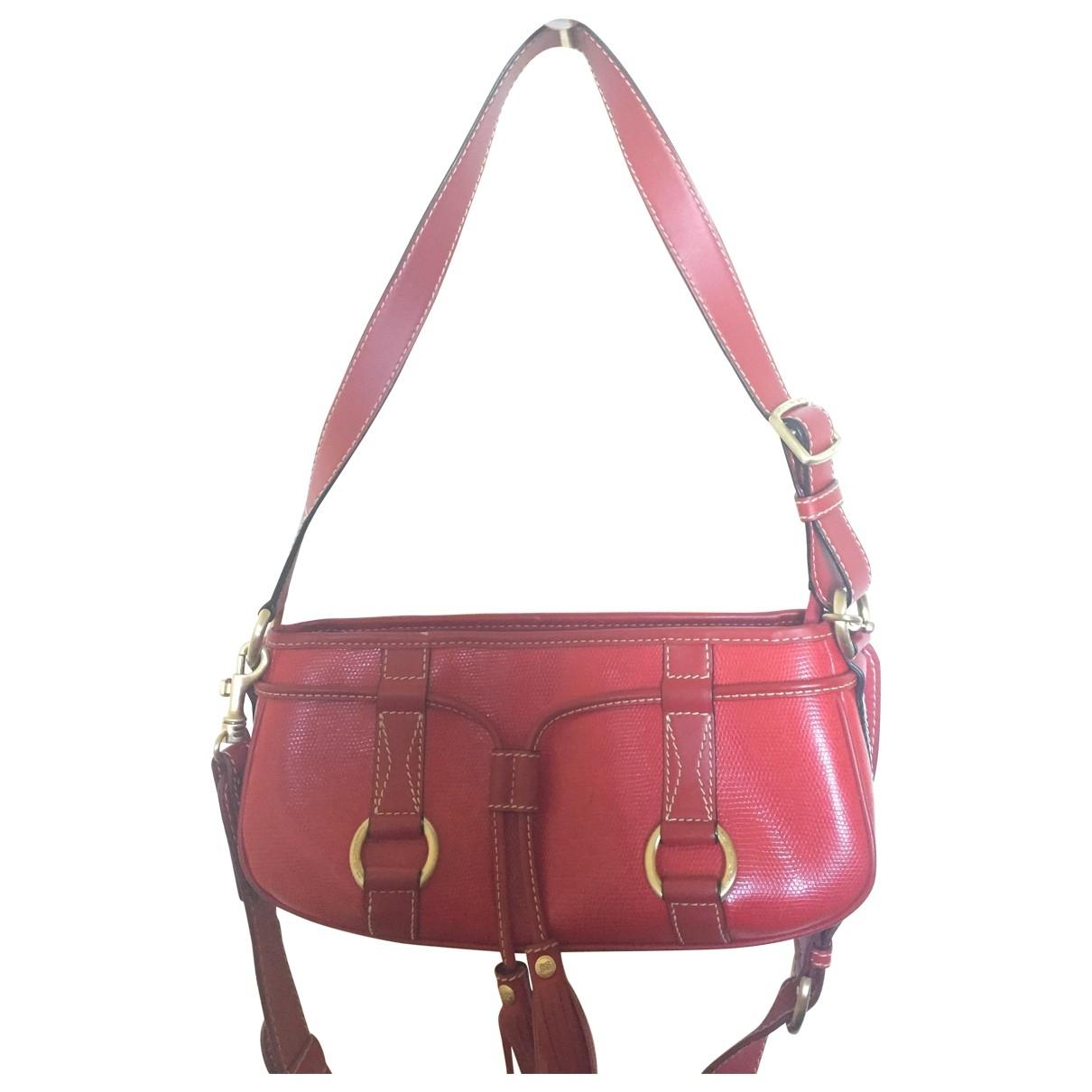 Lancel Elsa Sellier Red Leather handbag for Women \N