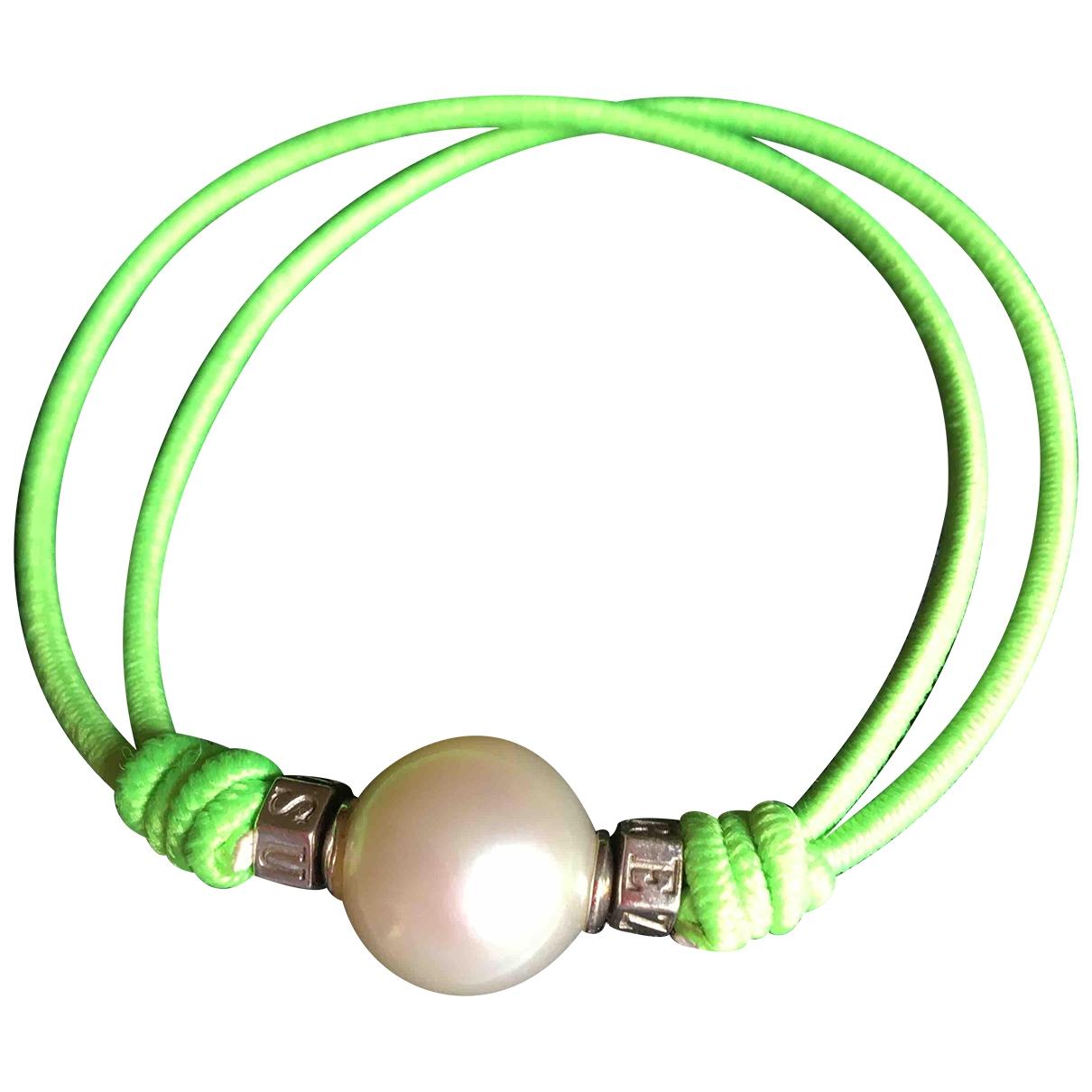 Suarez - Bracelet   pour femme en argent - vert