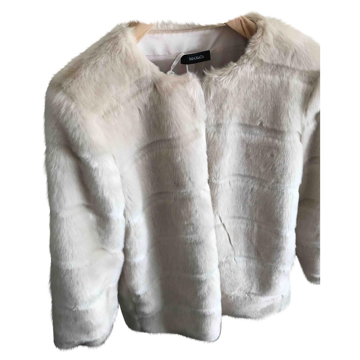 Max & Co \N Beige Faux fur coat for Women 44 IT