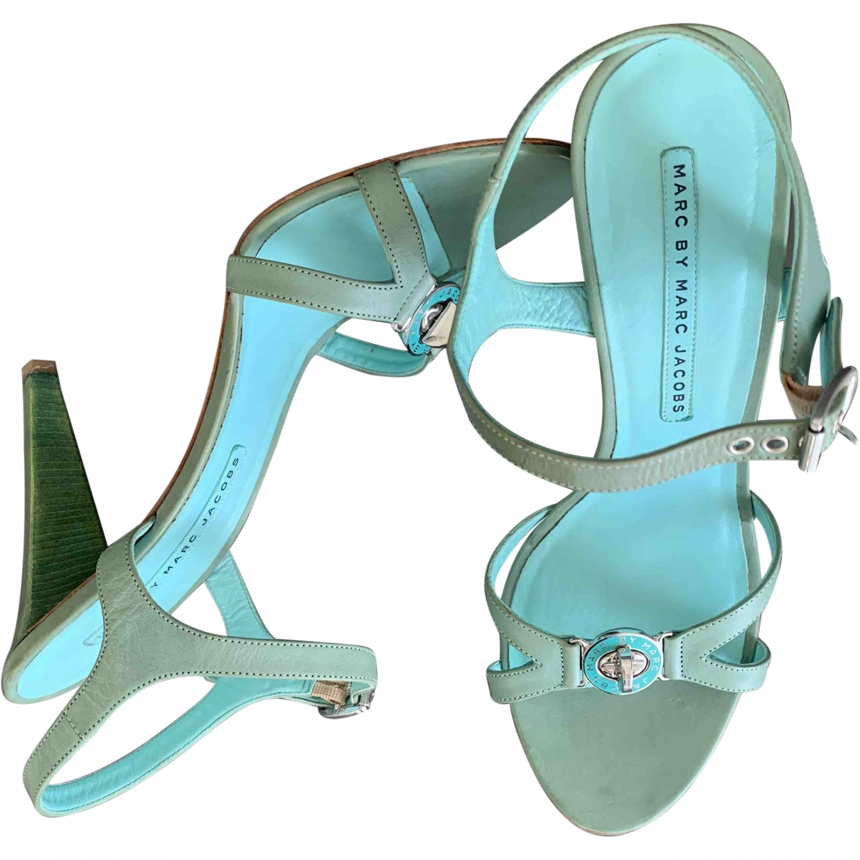 Marc By Marc Jacobs \N Green Leather Sandals for Women 40 EU