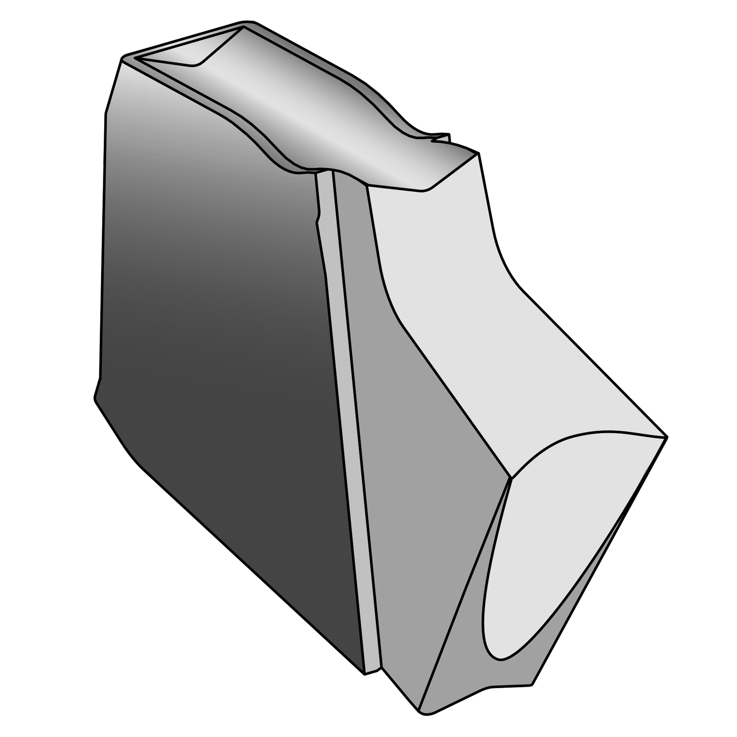 Ultra-Shear Fluted Insert for Parting Tool