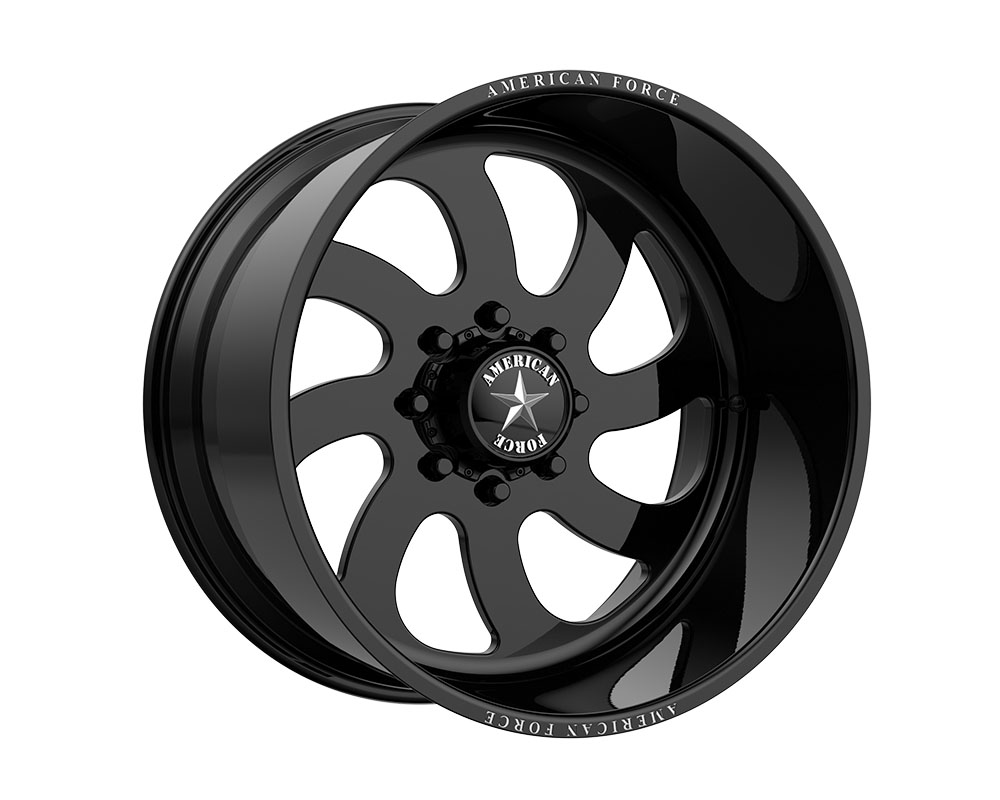American Force AFTQ76LD22-2-20 AFW 76 Blade SS Wheel 26.00x14.00 8x165.10 -73mm Gloss Black - Right Directional