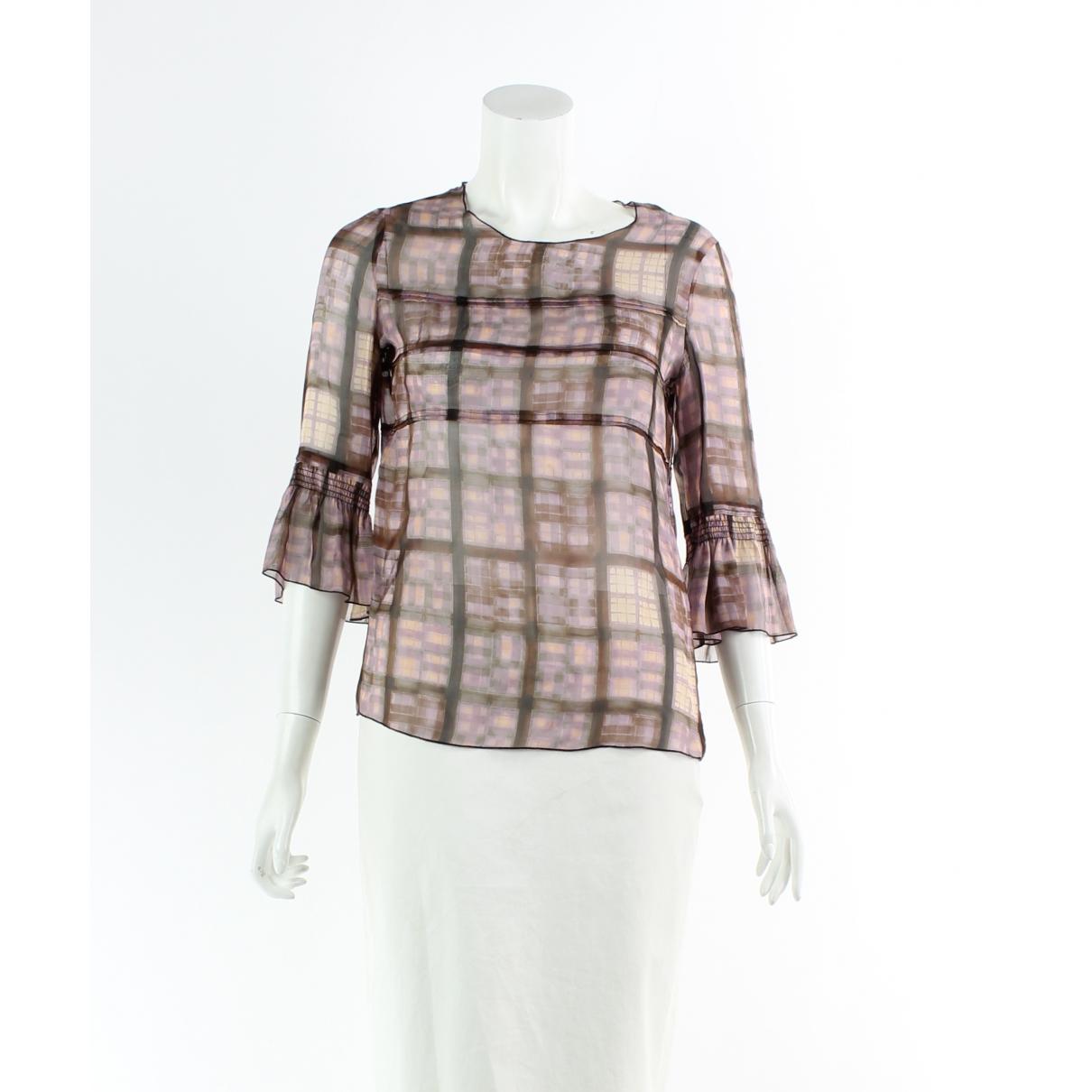 Miu Miu \N Purple Silk  top for Women 40 FR