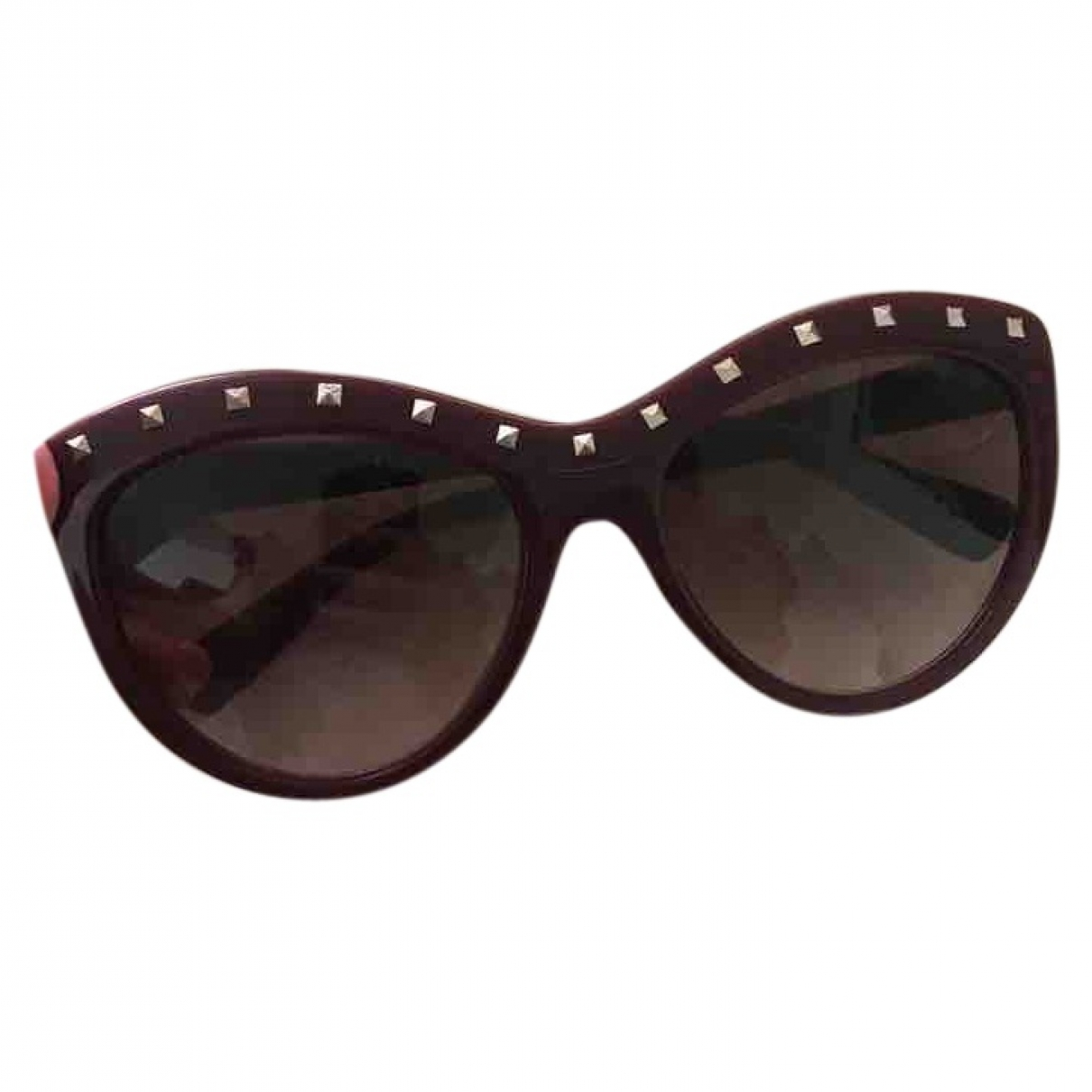 Valentino Garavani \N Burgundy Sunglasses for Women \N