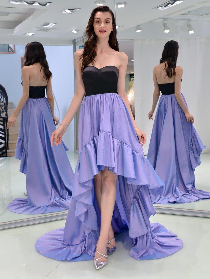 Ericdress A Line Sweetheart Asymmetry High Low Prom Dress