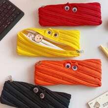 1pc Random Cartoon Zipper Pencil Case