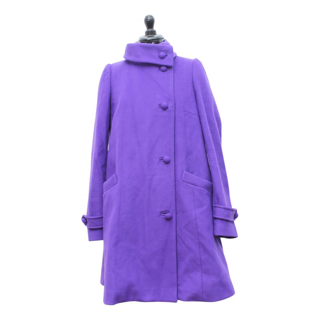 Tara Jarmon N Purple Wool coat for Women 36 FR