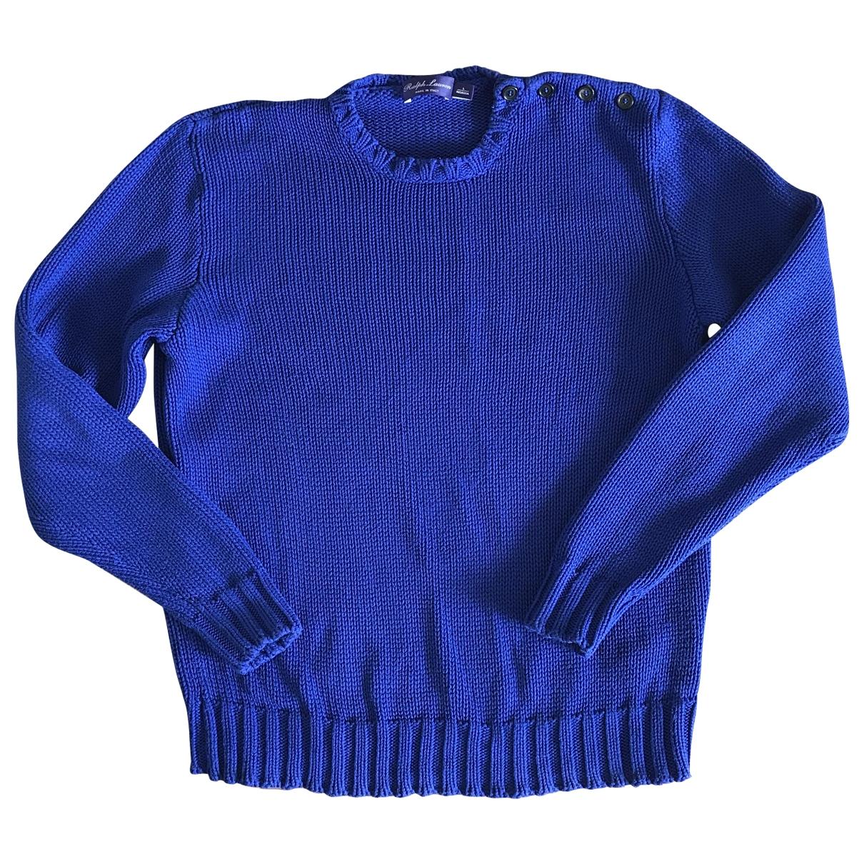 Ralph Lauren Collection \N Pullover.Westen.Sweatshirts  in  Blau Baumwolle