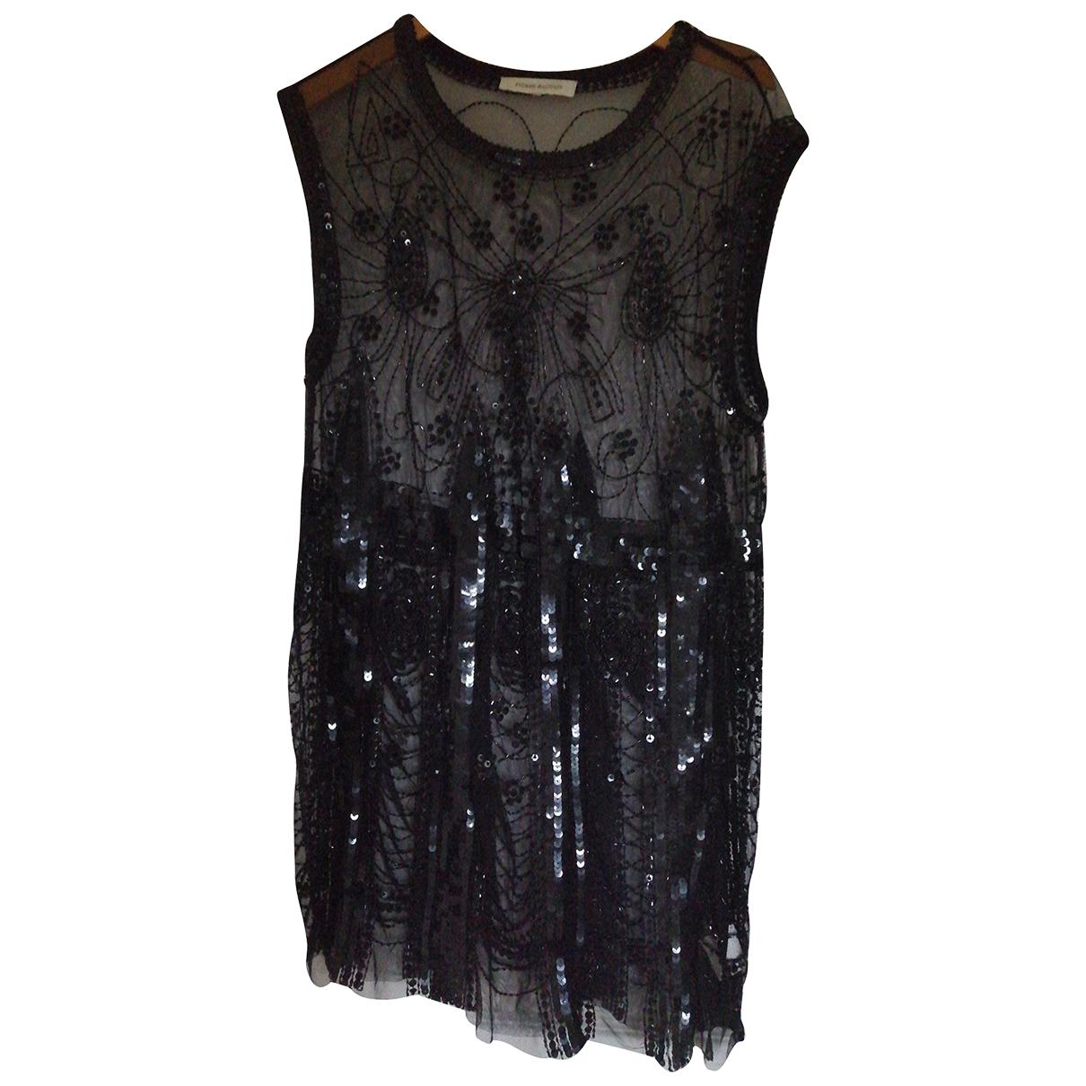 Pierre Balmain N Black Glitter dress for Women 36 FR