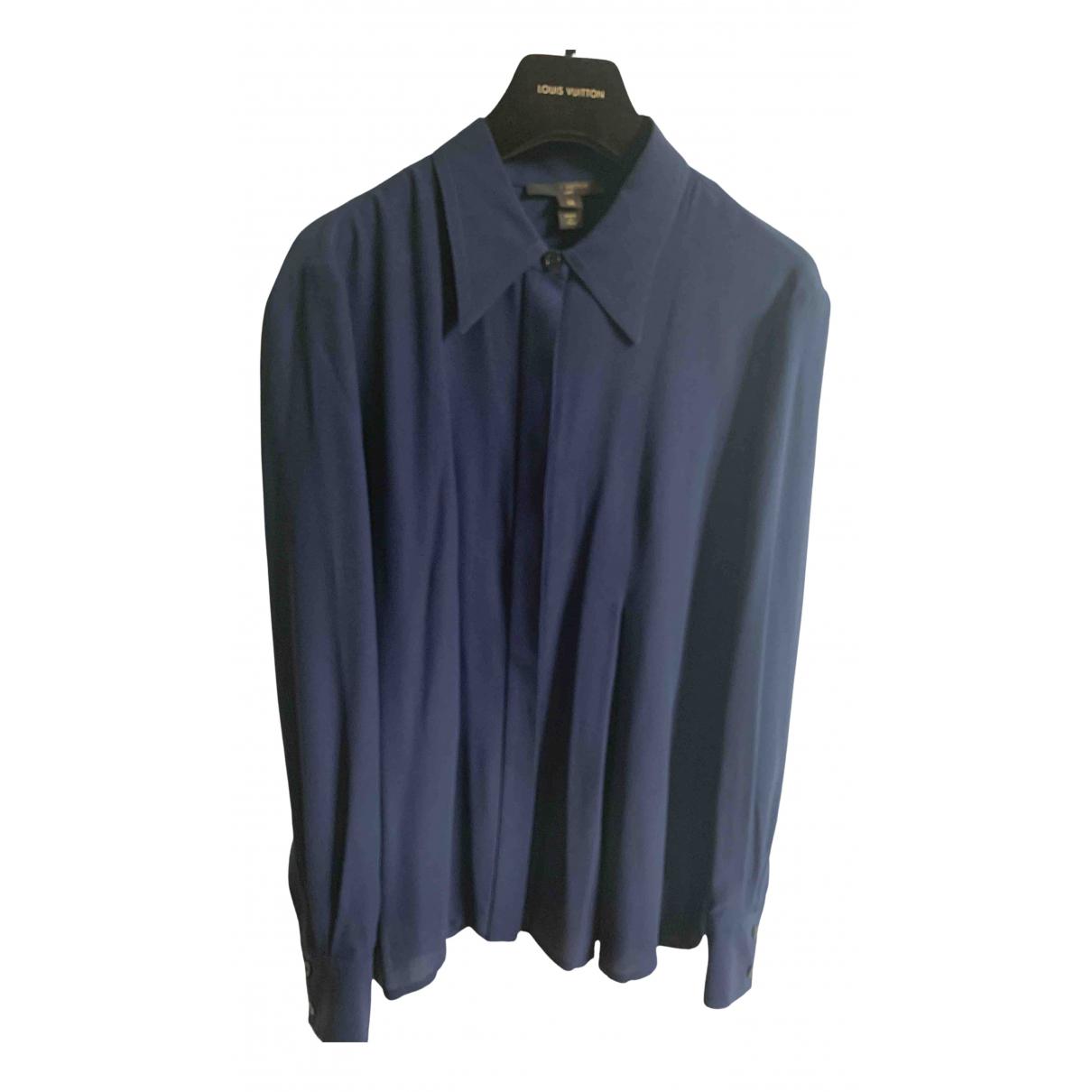 Louis Vuitton \N Navy Silk  top for Women 36 FR