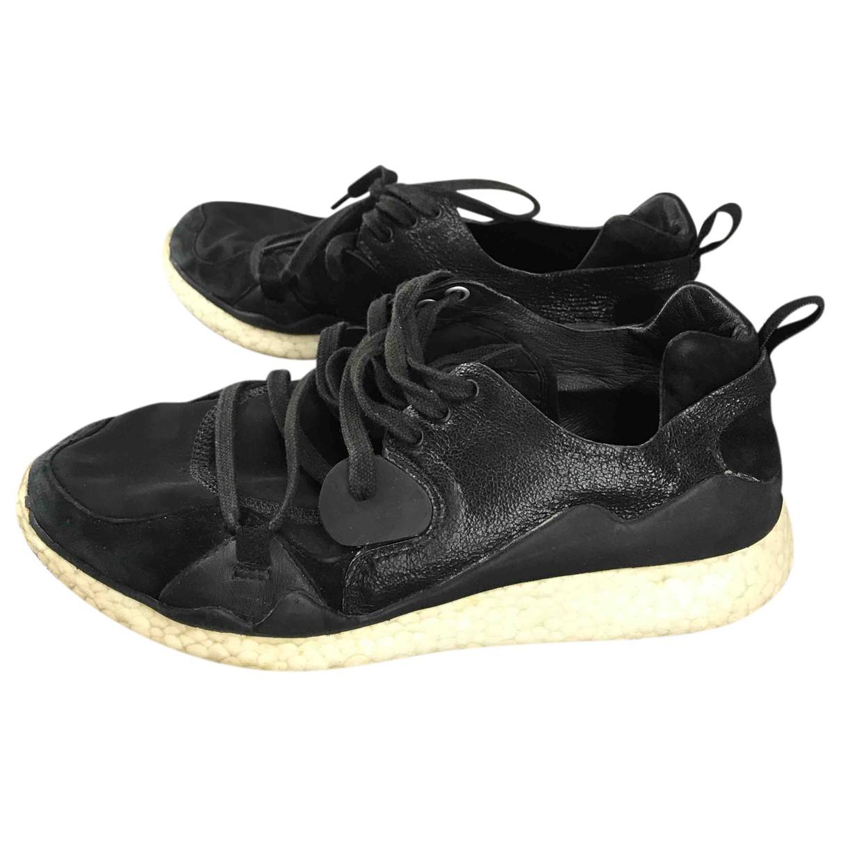 Y-3 \N Sneakers in  Schwarz Leder