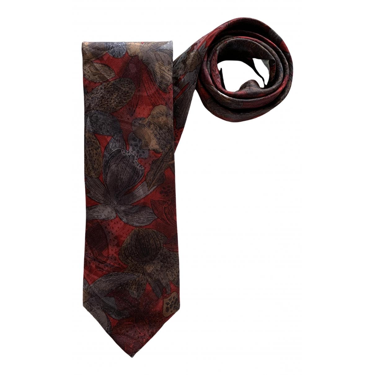 De Fursac \N Krawatten in  Rot Seide
