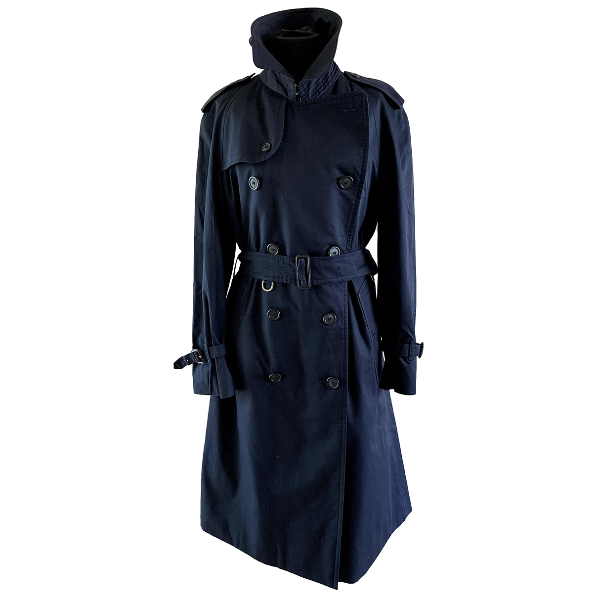 Burberry \N Navy Cotton Trench coat for Women S International