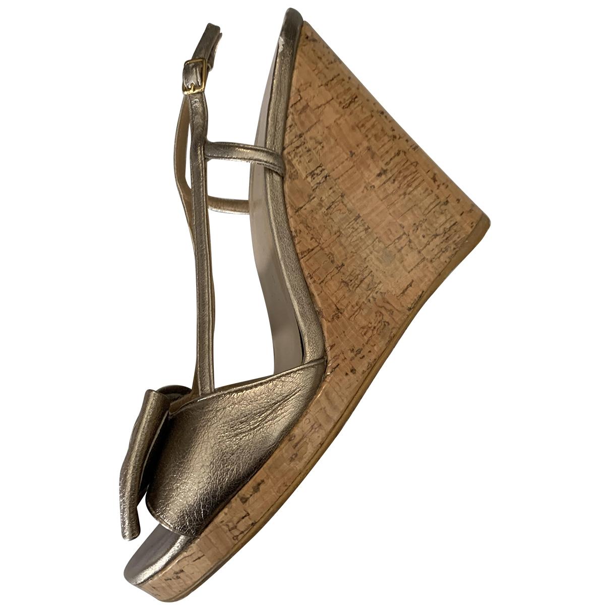 Stuart Weitzman - Sandales   pour femme en cuir - dore