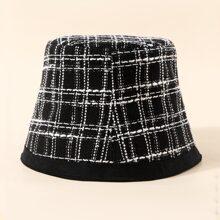 Sombrero cubo de cuadros