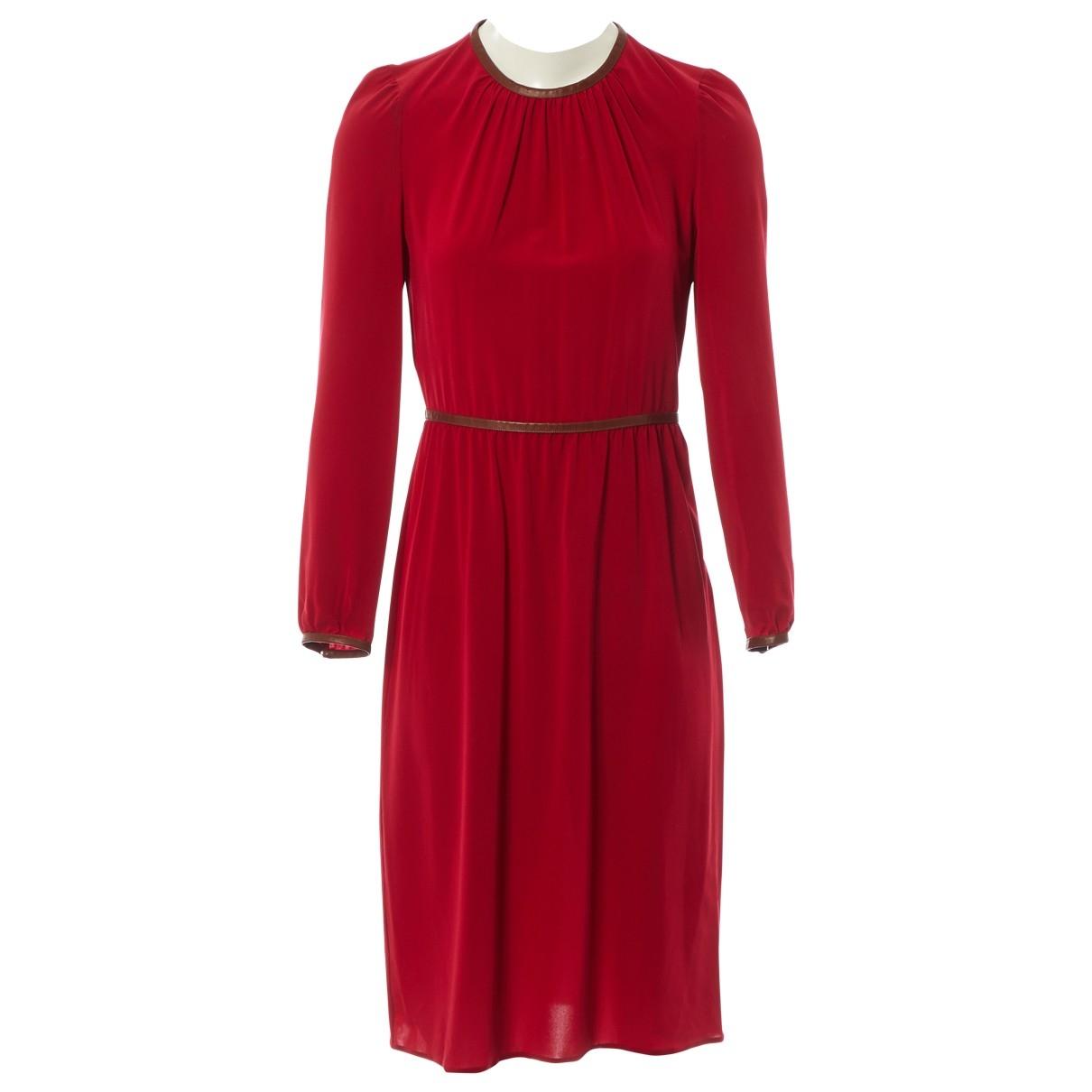 Prada - Robe   pour femme en soie - rouge