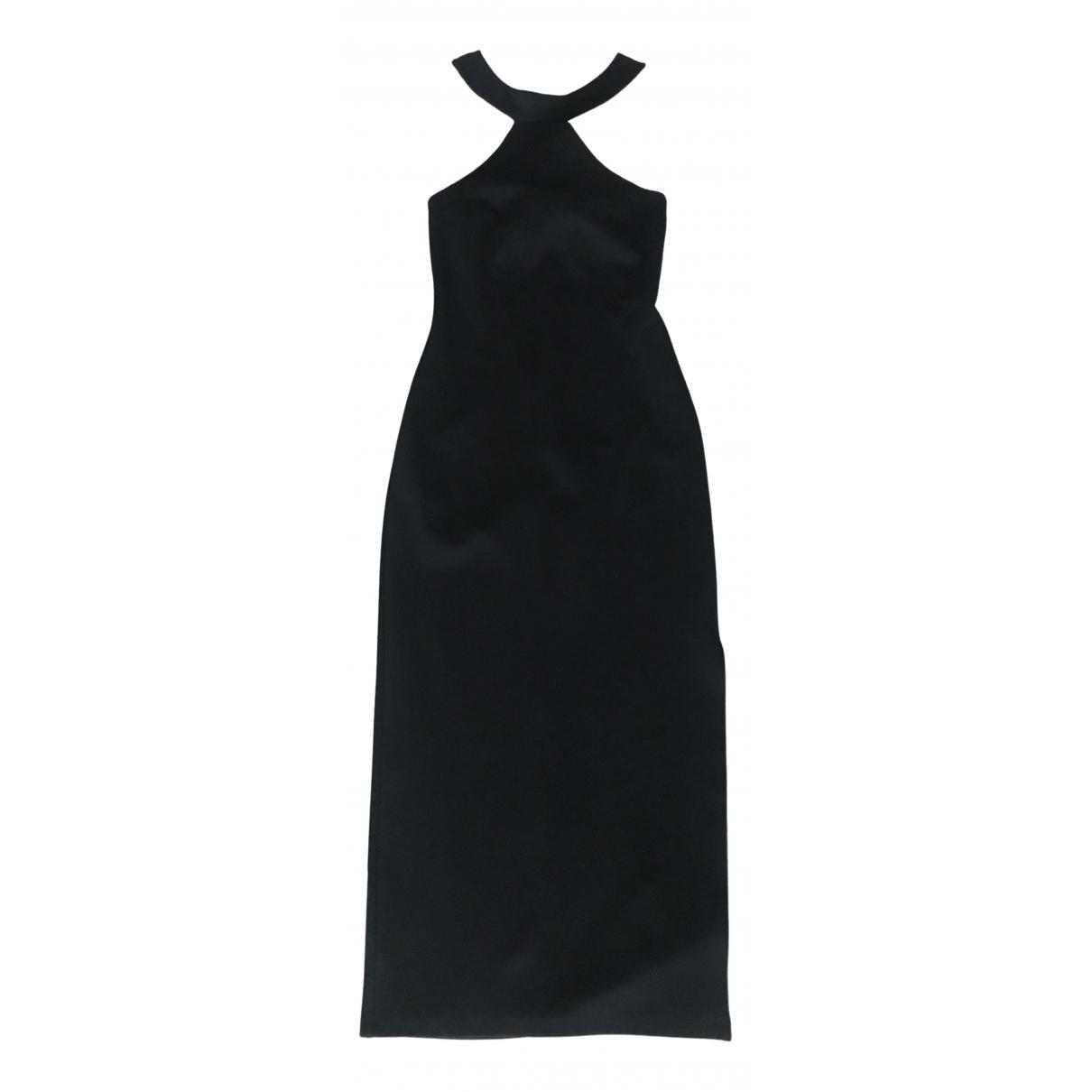 Reformation \N Kleid in  Schwarz Baumwolle