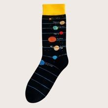 1 Paar Maenner Planet Muster Socken