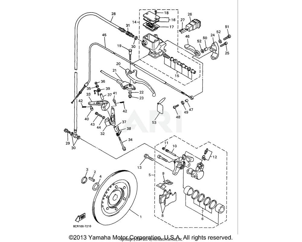 Yamaha OEM 8CR-2580T-00-00 CALIPER ASSEMBLY (LEFT)