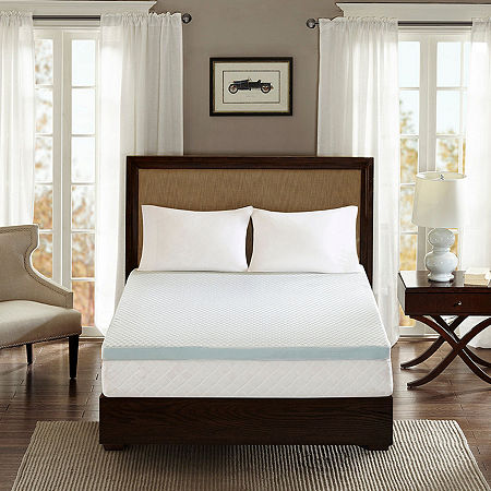 Sleep Philosophy 2 Memory Foam Mattress Topper, One Size , White