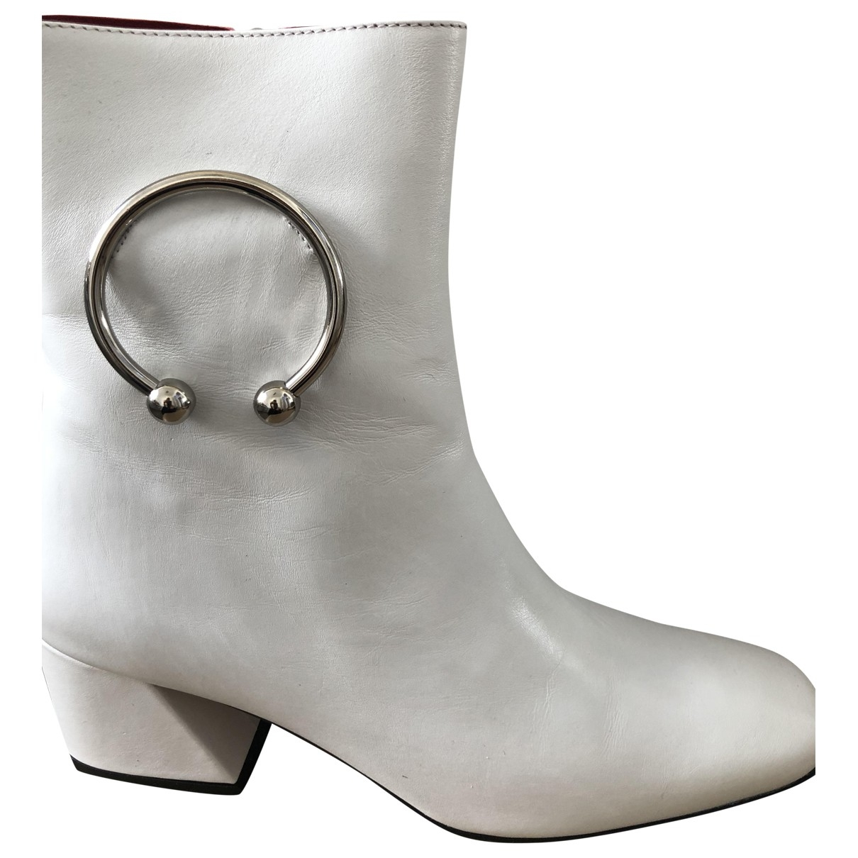 Dorateymur - Boots   pour femme en cuir - blanc