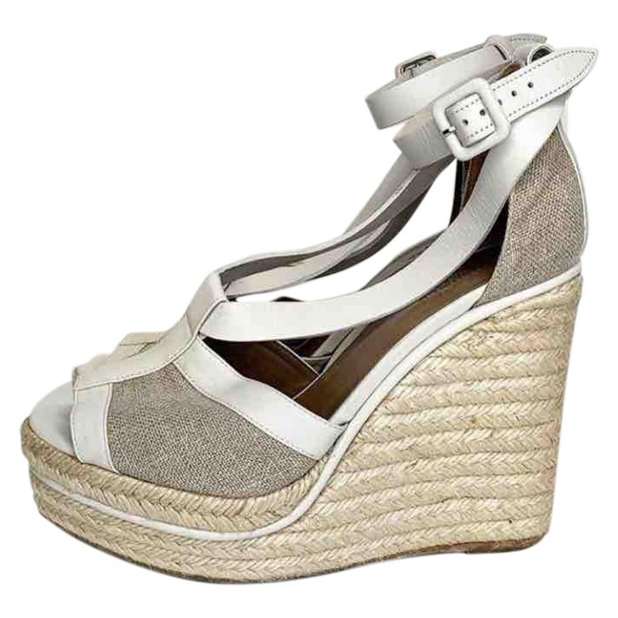Hermes - Sandales   pour femme en toile - gris