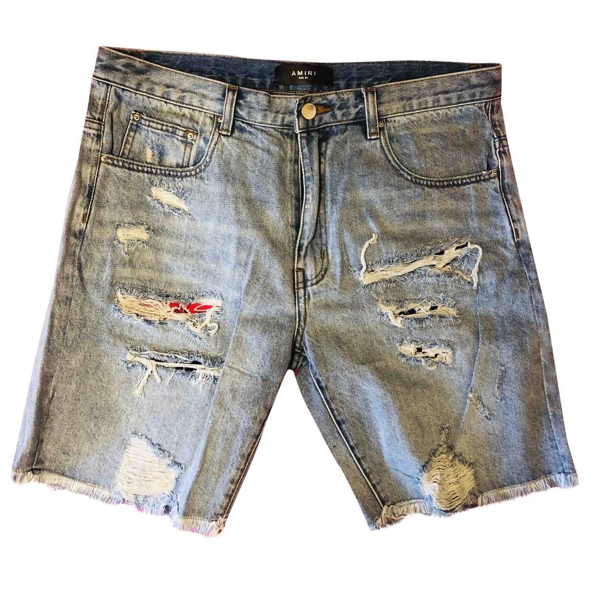 Amiri \N Blue Denim - Jeans Shorts for Men 34 UK - US