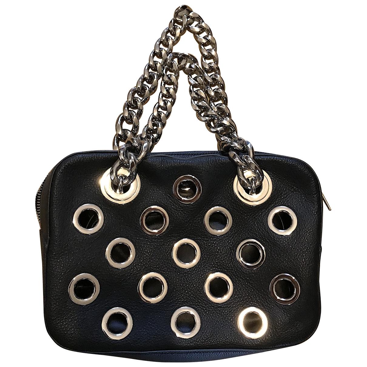 Prada - Sac a main City Fori Chain pour femme en cuir - noir