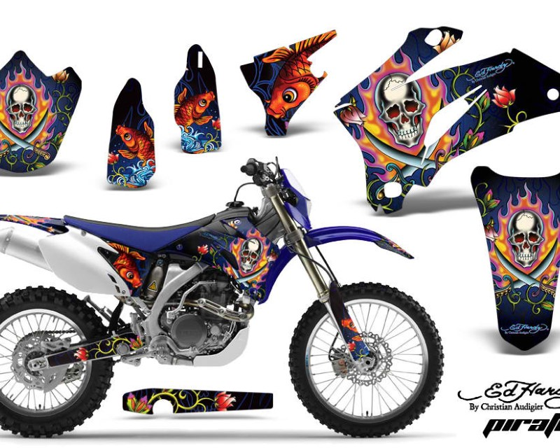 AMR Racing Dirt Bike Graphics Kit Decal Wrap For Yamaha WR250F 2007-2014 WR450F 2007-2011áEDHP BLUE