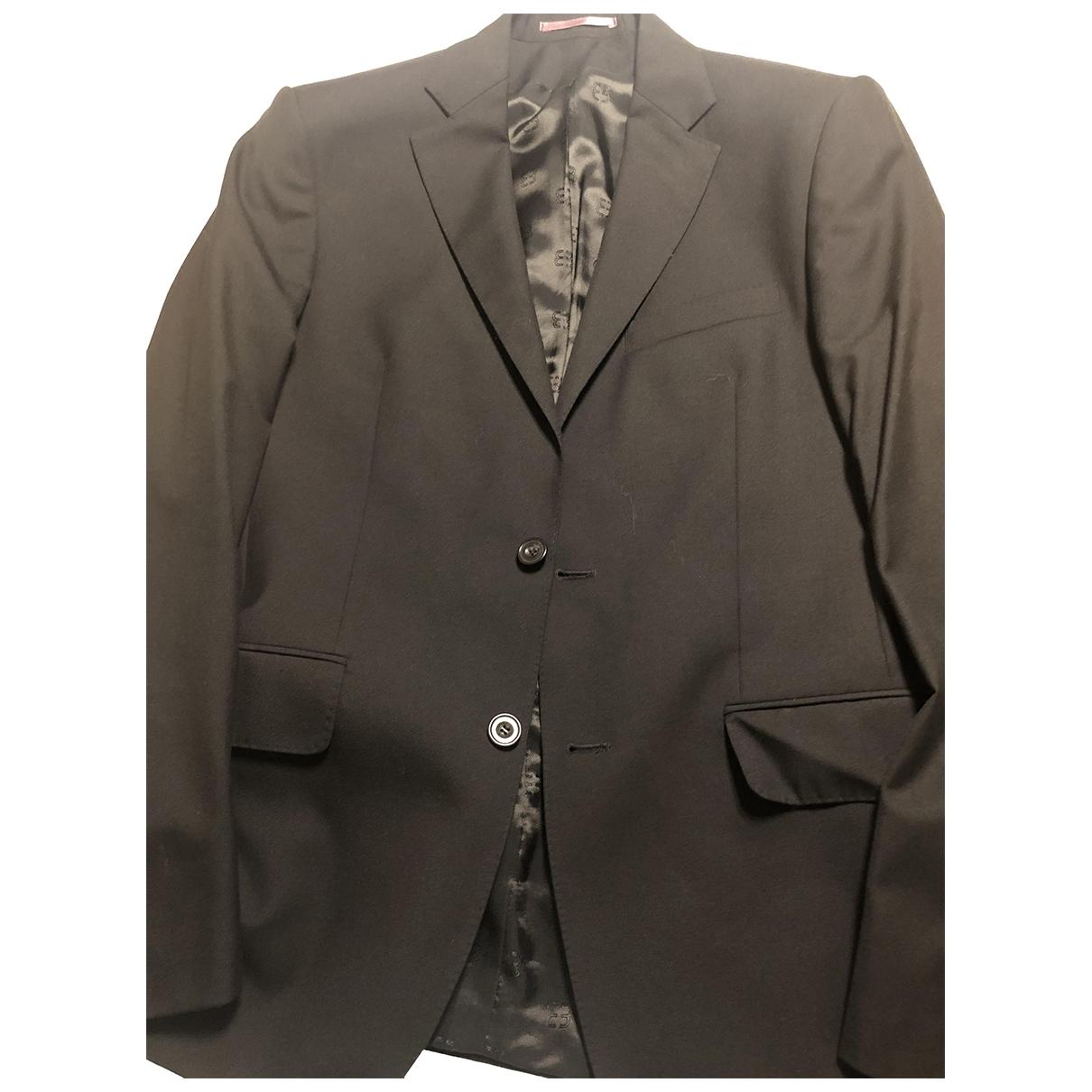 Bruuns Bazaar \N Black Wool Suits for Men 48 IT