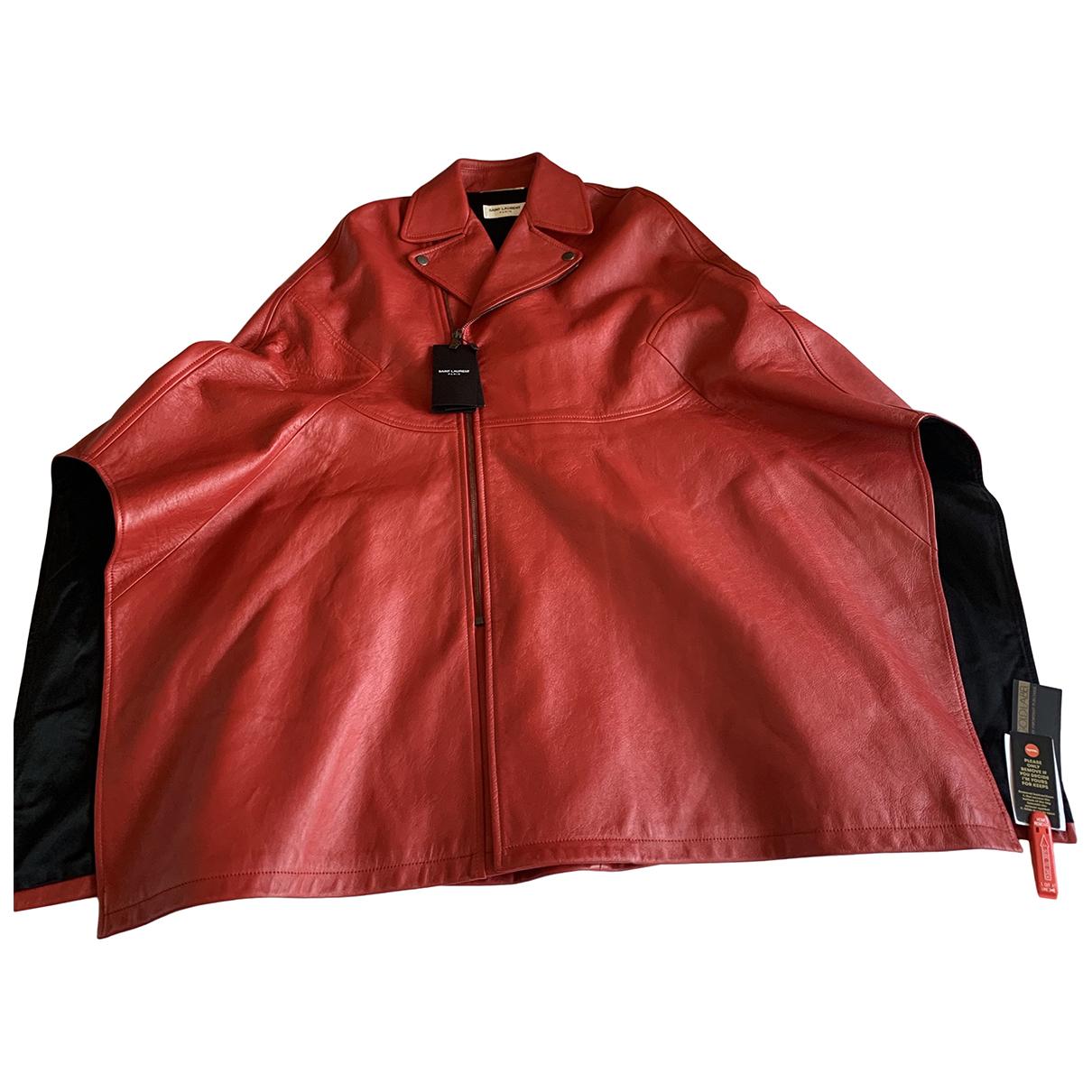 Saint Laurent \N Jacke in  Rot Leder