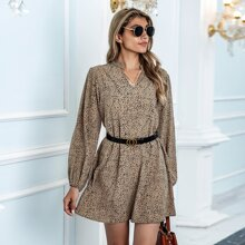 Tunika Kleid mit Muster ohne Guertel